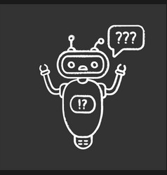 help chatbot chalk icon vector image