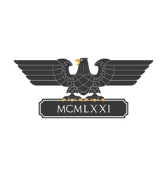 Heraldic eagle 20 vector image