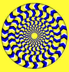 hypnotic of rotation perpetual rotation vector image