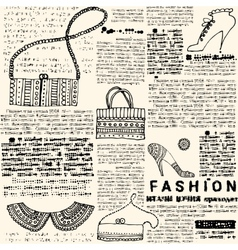 Imitation newspapers of fashion vector