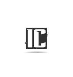 Initial letter ic logo template design vector
