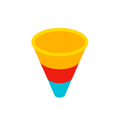 lead funnel isometric object vector image