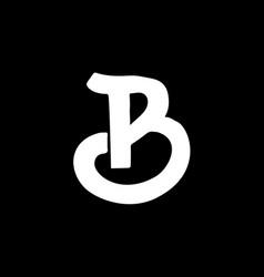 Letter b vintage grunge font label style letter vector