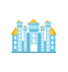 light blue fairytale royal castle or palace vector image