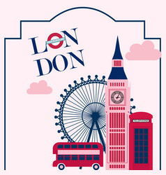 london vintage poster vector image