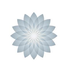 Lotus plant symbol vector