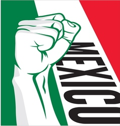 Mexico fist vector image