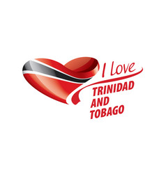 National flag trinidad and tobago in the vector