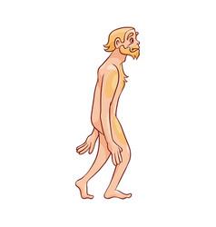 Neanderthal man walking vector
