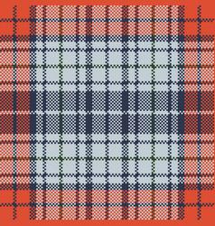 orange blue check plaid pixel texture vector image