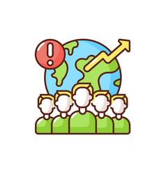 Overpopulation rgb color icon vector