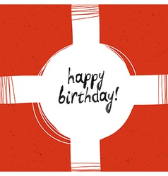 packaging happy birthday vector image vector image