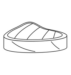piece tuna icon outline style vector image