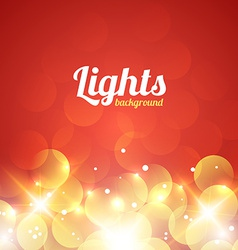 Red and Golden Bokeh Abstract Light Background vector image