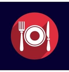 Restaurant menu symbol such logo food cafe vector image