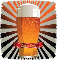 Retro beer background vector