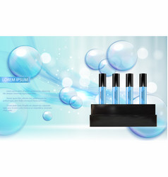 Revitalizing serum bottle template for ads or vector