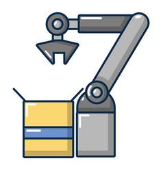 robot factory icon cartoon style vector image
