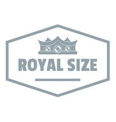 Royal crown logo simple gray style vector