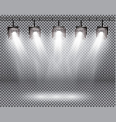 Scene illumination effects with spotlights on vector