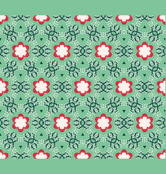 seamless pattern with stylized tropical leaves vector image