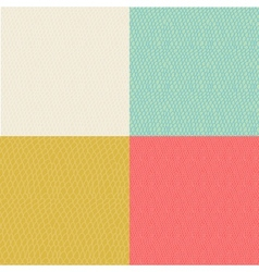 Set of colored wavy curly seamless textures vector image