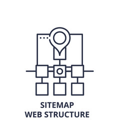 sitemap web structure line icon concept sitemap vector image