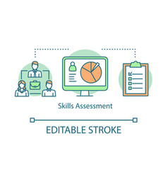 Skills assessment concept icon vector