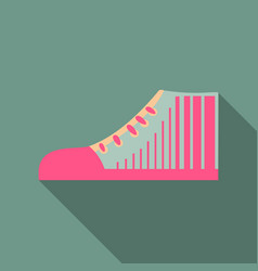 sneakers sneakers in flat style sneakers top view vector image