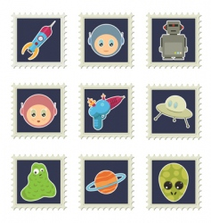 Space stamps vector
