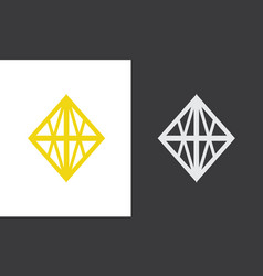 square decoration logo vector image