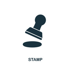 stamp icon line style icon design from personal vector image