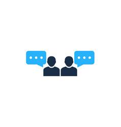 team testimonial logo icon design vector image