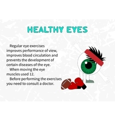 The benefits of gymnastics for the healthy eyes vector