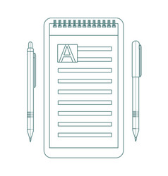 to do list contour icon design icon do list a vector image