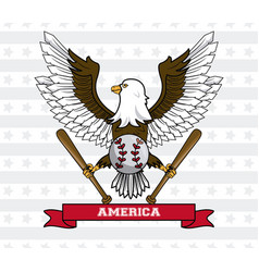 usa baseball sport game vector image