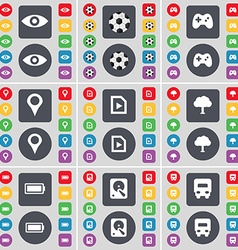 Vision Ball Gamepad Checkpoint Media file Tree vector image