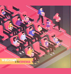 Welcome to cinema background vector