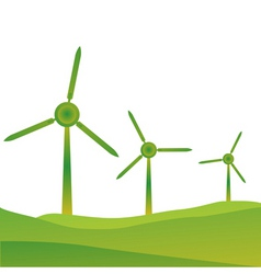 Windmills vector