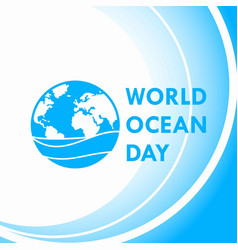 World ocean day 5 vector