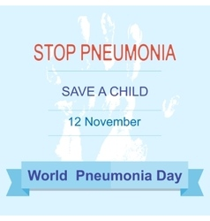 World pneumonia day vector