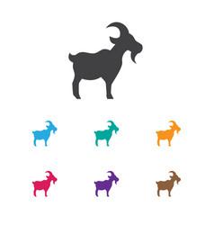 Zoology symbol on goat icon vector