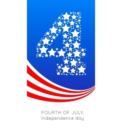 4th july american independence vector image