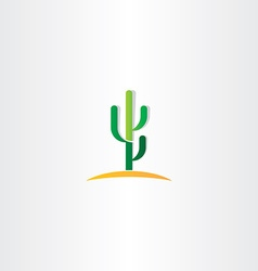 cactus in desert icon vector image vector image