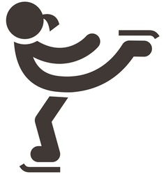 figure skating icon vector image