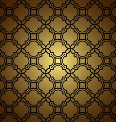 Golden seamless pattern in oriental style vector image
