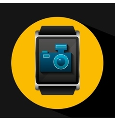 smart watch concept camera social media vector image