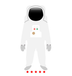 spaceman icon color fill style vector image