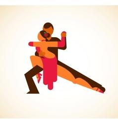 Tango dancer - vector image vector image