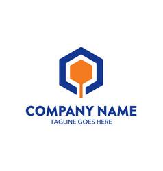 Unique automotive logo template vector